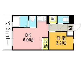 リード桜坂・1201号室の間取り
