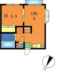 ファミーユ原宿・101号室の間取り