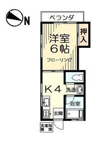 海老沢荘 102号室の間取り