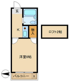 K'sⅡ・107号室の間取り
