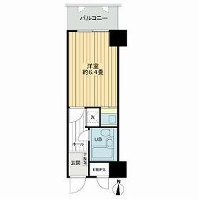 ライオンズマンション新大阪第3・1517号室の間取り