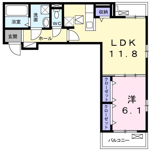 ロン・ボヌール 弁天池公園 Ⅱ・01030号室の間取り