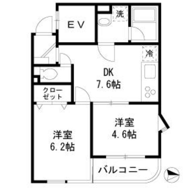 AKKレジデンス新宿・501号室の間取り