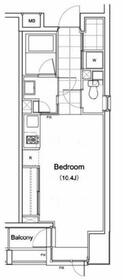 プライムアーバン南池袋・601号室の間取り