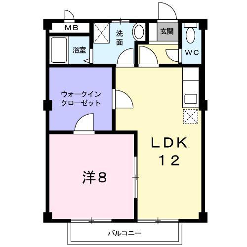 リバ-フロントA・02010号室の間取り