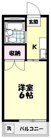 豊嶋コーポ 202号室の間取り
