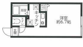 レジディア西新宿・0103号室の間取り