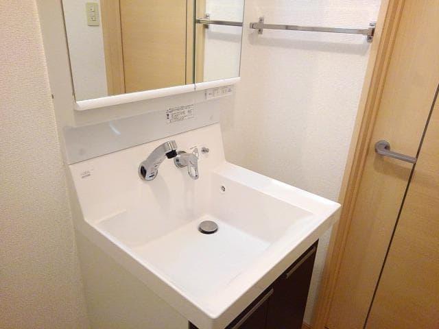 ファミールフジB 02020号室の洗面所