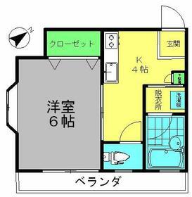 坂本アパート・201号室の間取り