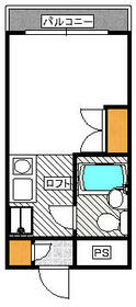 アドバンス ドミトリー・205号室の間取り