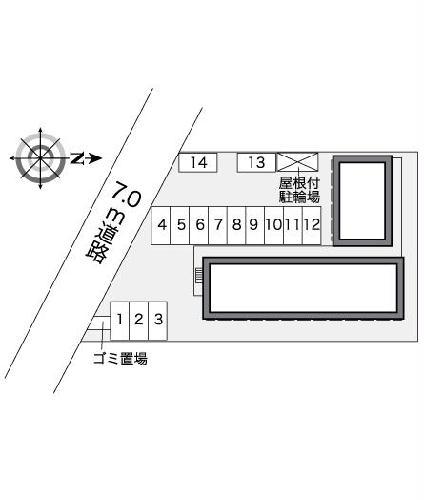 レオパレスVENTVERT 108号室の駐車場