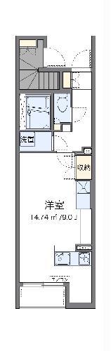 レオネクスト栄町記念公園・102号室の間取り