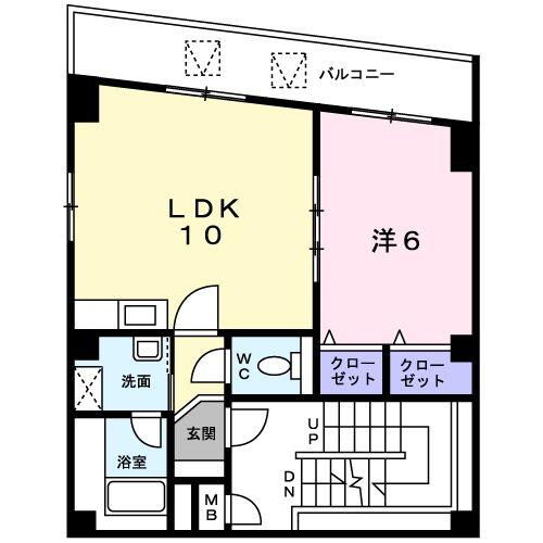 ヴェルデ ヨコハマ・04010号室の間取り