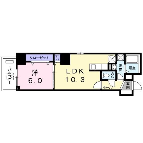 ルピナス昭和町・03030号室の間取り