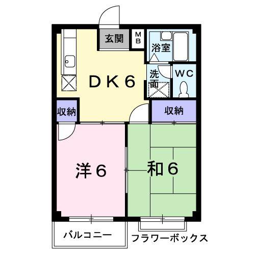 エルディム清和・01030号室の間取り