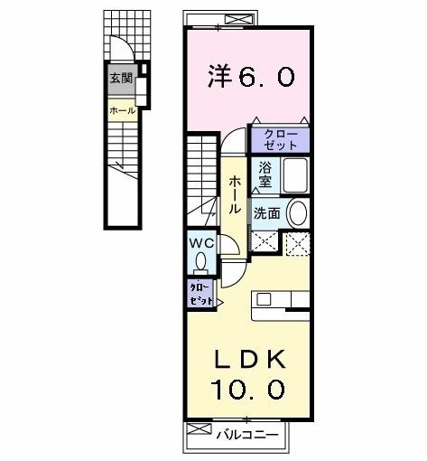 サニーレジデンス KⅡ・02020号室の間取り