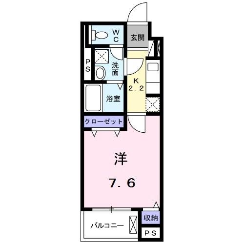 グレース湘南・05040号室の間取り