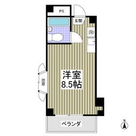 エステイトE熊谷 旧シティホームズ本石 201号室の間取り