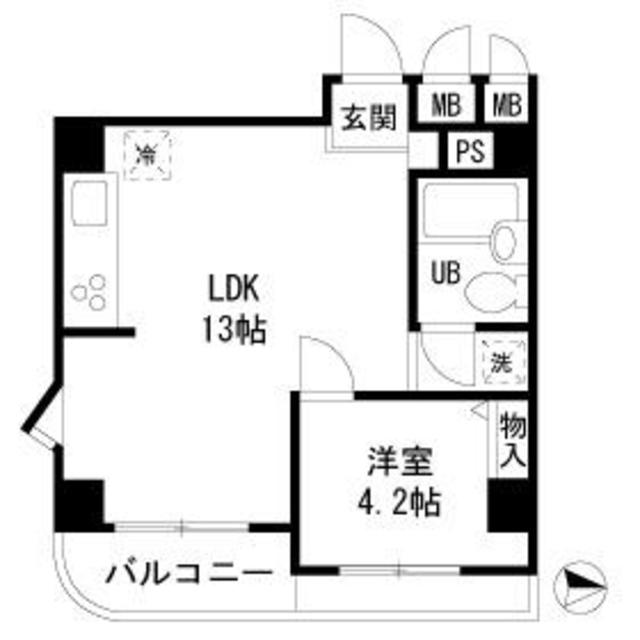 AKKレジデンス新宿・202号室の間取り