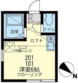 ユナイト東寺尾カシージャスの杜 201号室の間取り