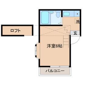メゾンドール一之江・301号室の間取り