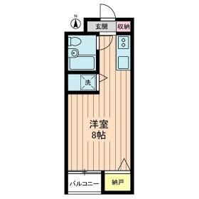 江古田ハイツ・0203号室の間取り