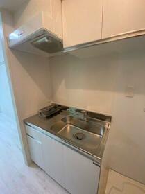 アップルハウス三ツ沢A 201号室のキッチン