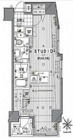 ラグジュアリーレジデンス新宿ソラーレ・1102号室の間取り