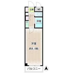 第132新井ビル・00306号室の間取り