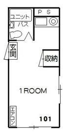 桜森ホームズ・101号室の間取り