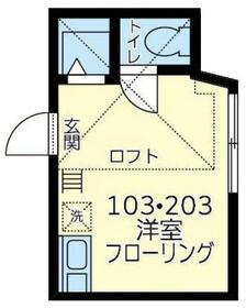 ユナイト桜本ミケル・カブレラ・103号室の間取り