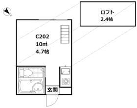 パソム田園調布・C202号室の間取り