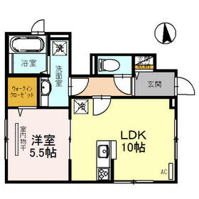 メゾンN 京都 三十三間堂 101号室の間取り