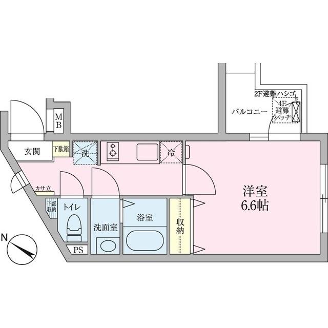 モン・シャトー代々木・301号室の間取り