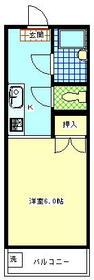 ジュネス増田 202号室の間取り
