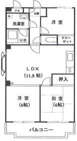 サクスィードシノザキ・306号室の間取り
