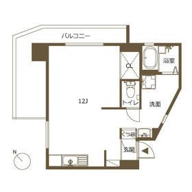 新高砂マンション・304号室の間取り