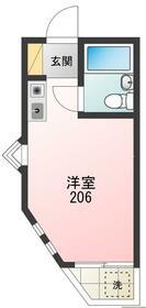 パルハイツ赤塚Ⅱ・206号室の間取り