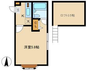 イジェントYOU・2-D号室の間取り