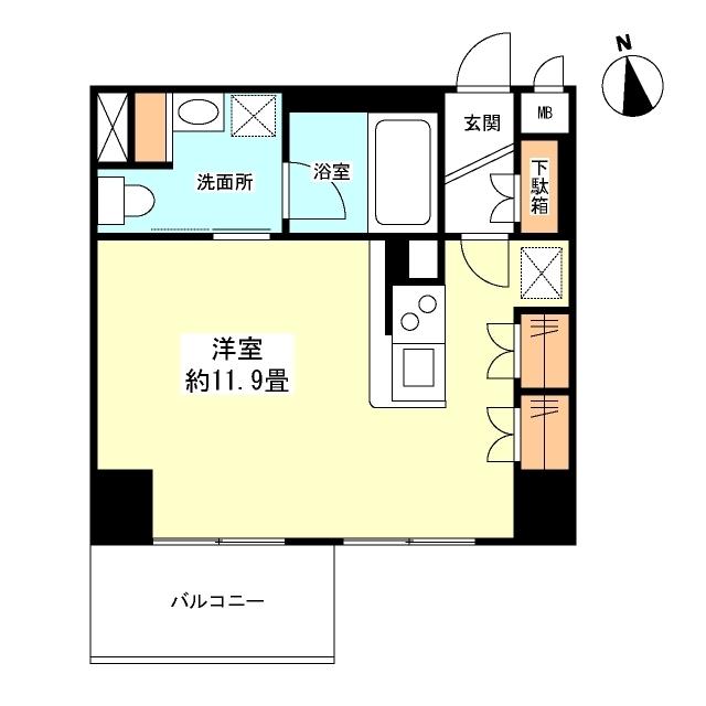 グランカーサ新宿御苑・0504号室の間取り