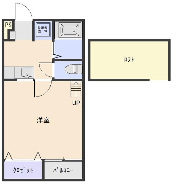 スクウェアコートC棟 205号室の間取り