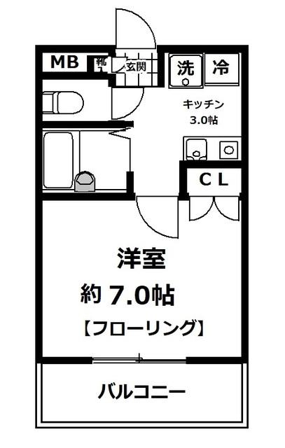 ヤシマメイト片倉・303号室の間取り