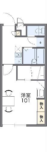 レオパレス芳菫閣Ⅲ・201号室の間取り