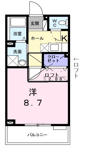 プラシード カーサⅡ・02040号室の間取り
