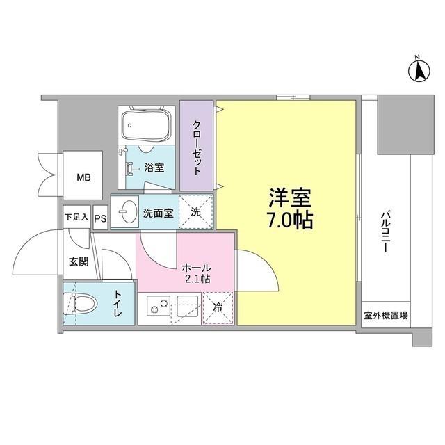 リバーレ東新宿・1003号室の間取り