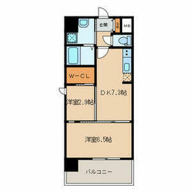 modern palazzo 姪浜 avenue・0303号室の間取り