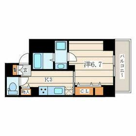 アムール香川 502号室の間取り