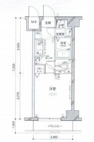 グリフィン横浜メディオ・303号室の間取り