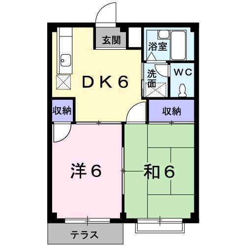 エルディム・横須賀・01020号室の間取り