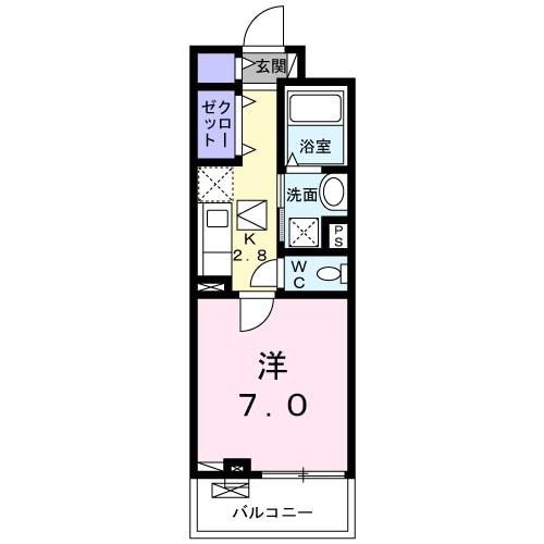 ウィステリア・リブⅠ・01020号室の間取り